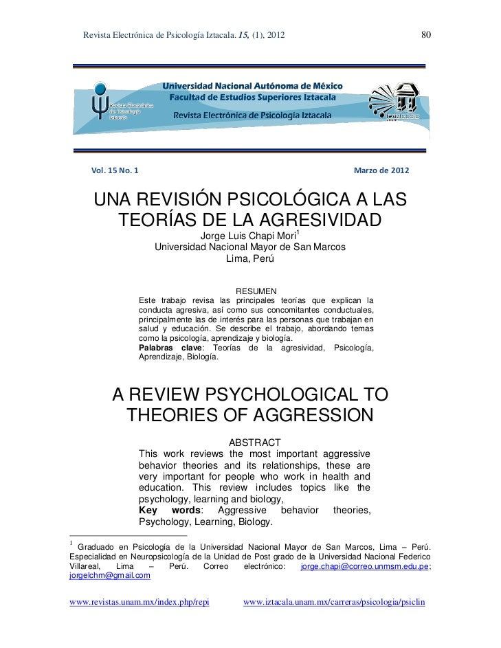 Revista Electrónica de Psicología Iztacala. 15, (1), 2012                                  80      Vol. 15 No. 1          ...