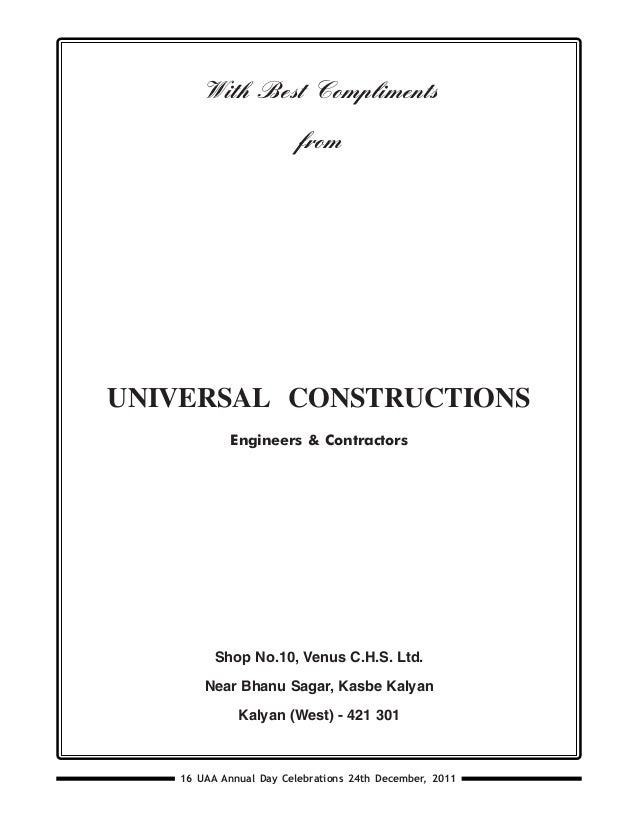 UAA Bulletin - Vol 16 - December 2011