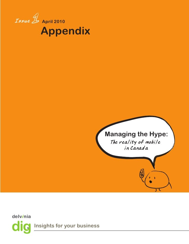 Issue      April 2010            Appendix                                          Managing the Hype:                     ...