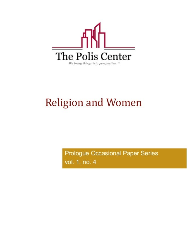 Religion and Women  Prologue Occasional Paper Series  vol. 1, no. 4