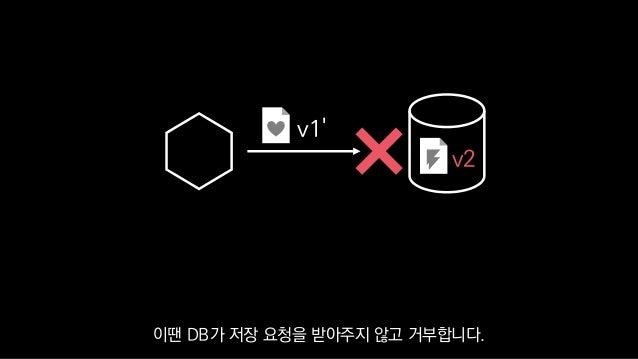 v1' v2 이땐 DB가 저장 요청을 받아주지 않고 거부합니다.