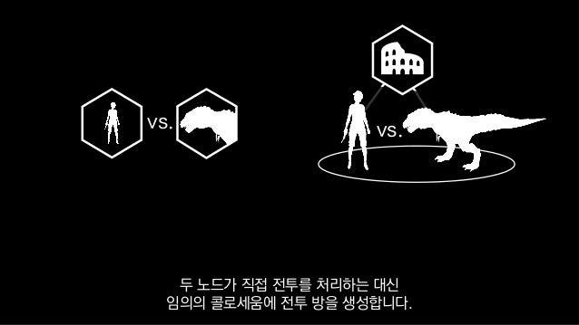 vs. vs. 두 노드가 직접 전투를 처리하는 대신 임의의 콜로세움에 전투 방을 생성합니다.
