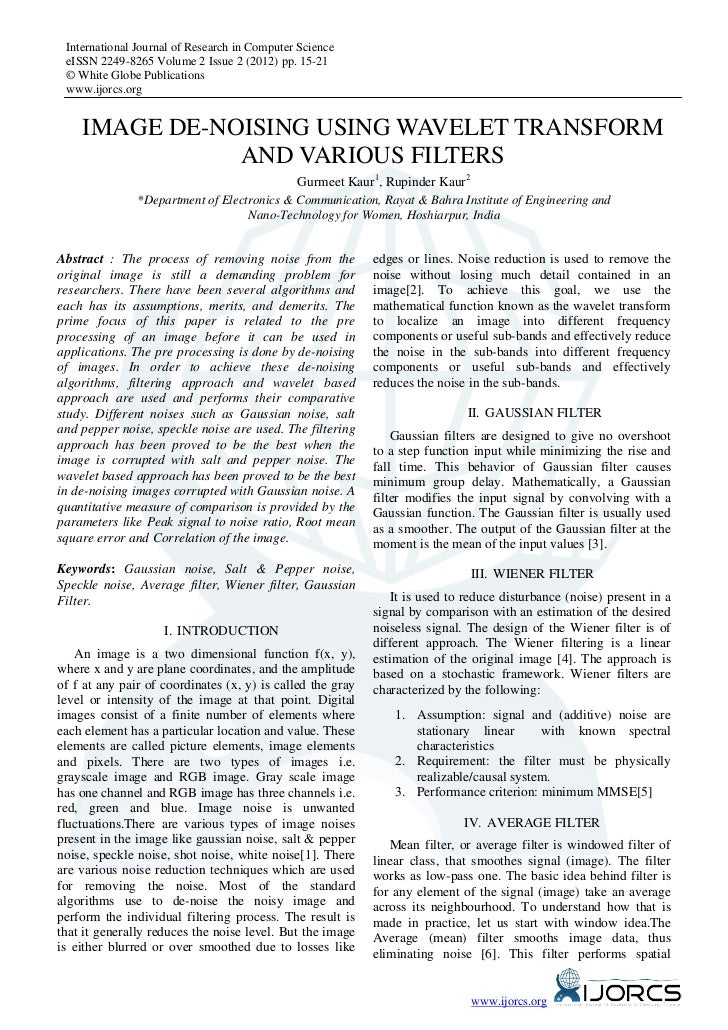 International Journal of Research in Computer Science eISSN 2249-8265 Volume 2 Issue 2 (2012) pp. 15-21 © White Globe Publ...