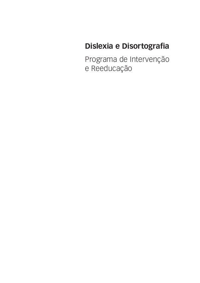 Programa de Intervenção e Reeducação Dislexia e Disortografia