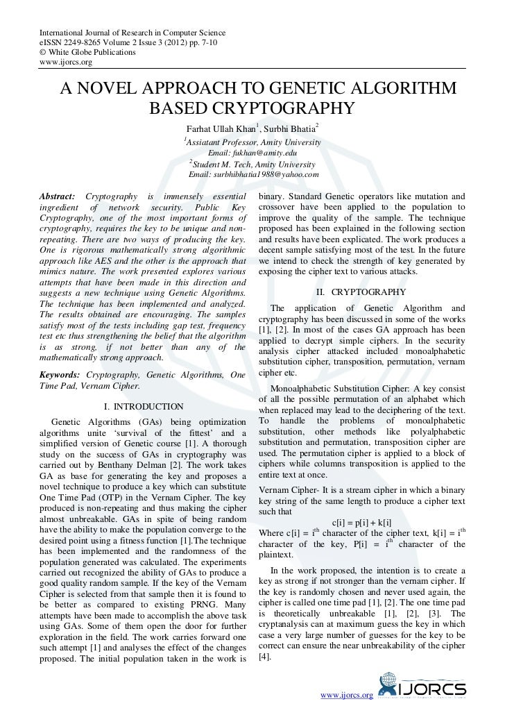 International Journal of Research in Computer ScienceeISSN 2249-8265 Volume 2 Issue 3 (2012) pp. 7-10© White Globe Publica...