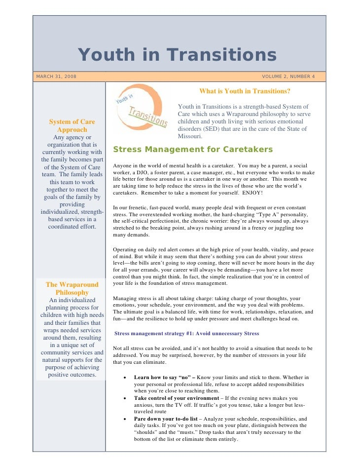 Youth in Transitions MARCH 31, 2008                                                                                 VOLUME...
