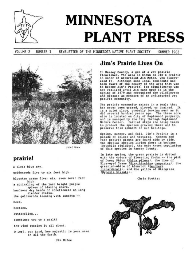 Summer 1983 Minnesota Plant Press