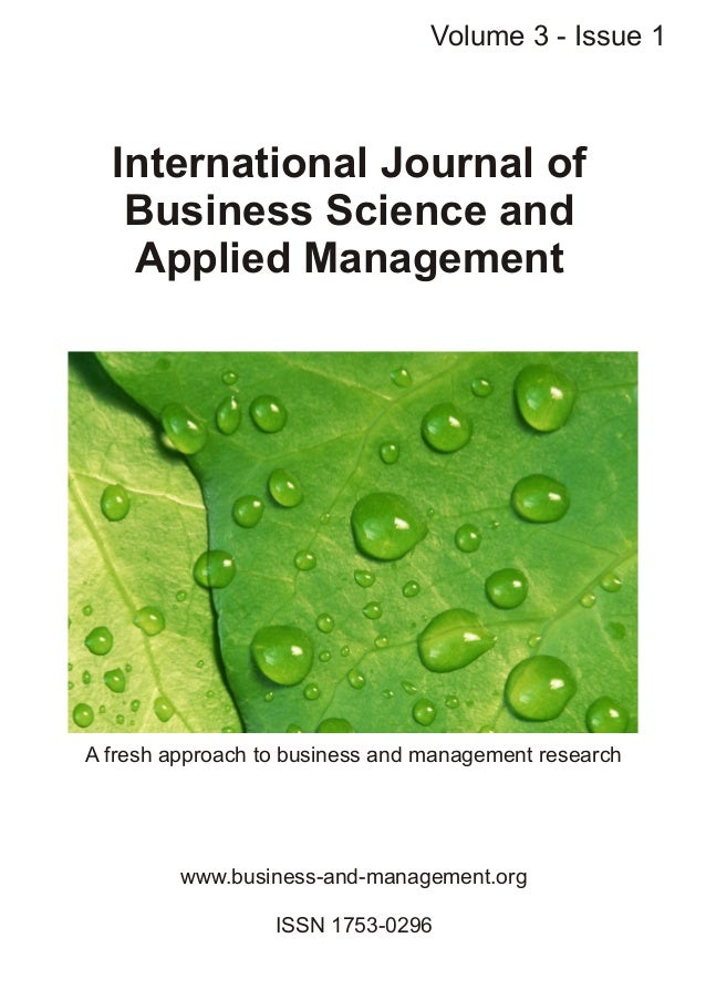 Int. Journal of Business Science and Applied Management, Volume 3, Issue 1, 2008Customer complaints as a source of custome...