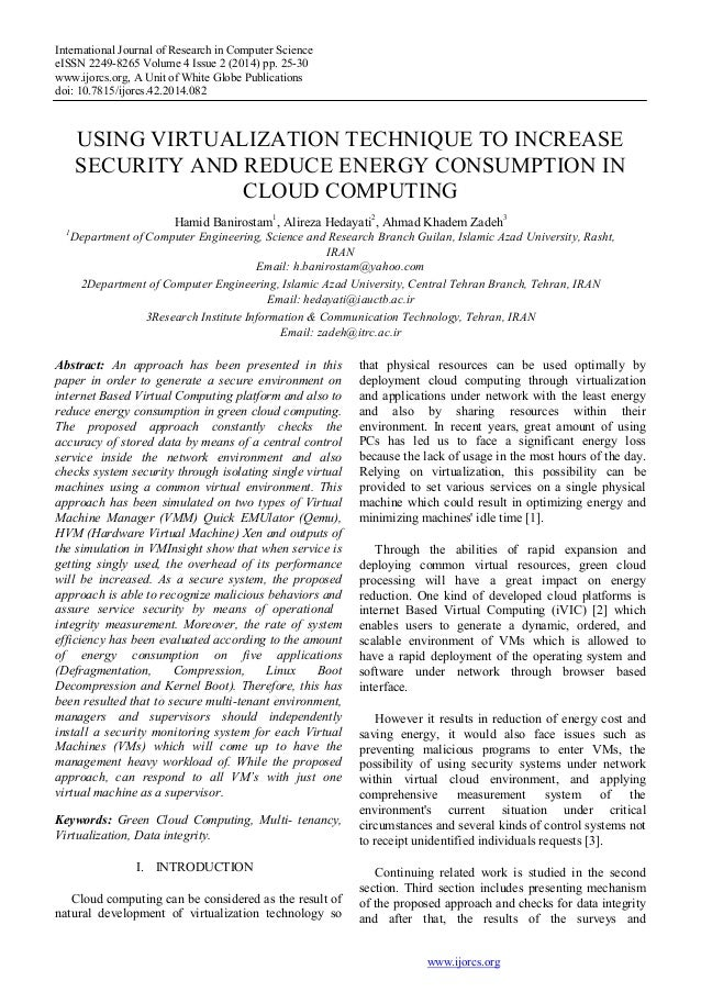 International Journal of Research in Computer Science eISSN 2249-8265 Volume 4 Issue 2 (2014) pp. 25-30 www.ijorcs.org, A ...