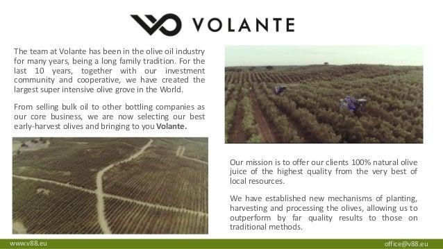 Volante Premium and Natural Extra Virgin Olive Oil presentation
