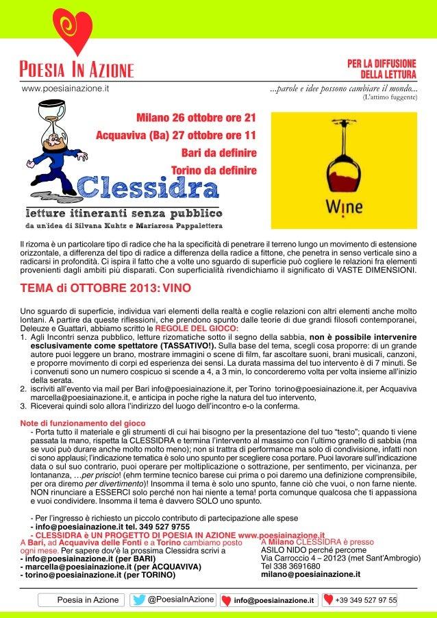 Volantino clessidra ott2013
