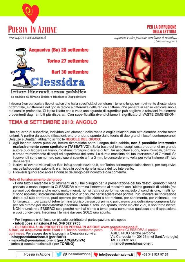 Volantino clessidra sett2013