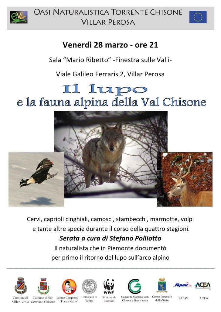 """Venerdì 28 marzo - ore 21                             Sala """"Mario Ribetto"""" -Finestra sulle Valli-                         ..."""