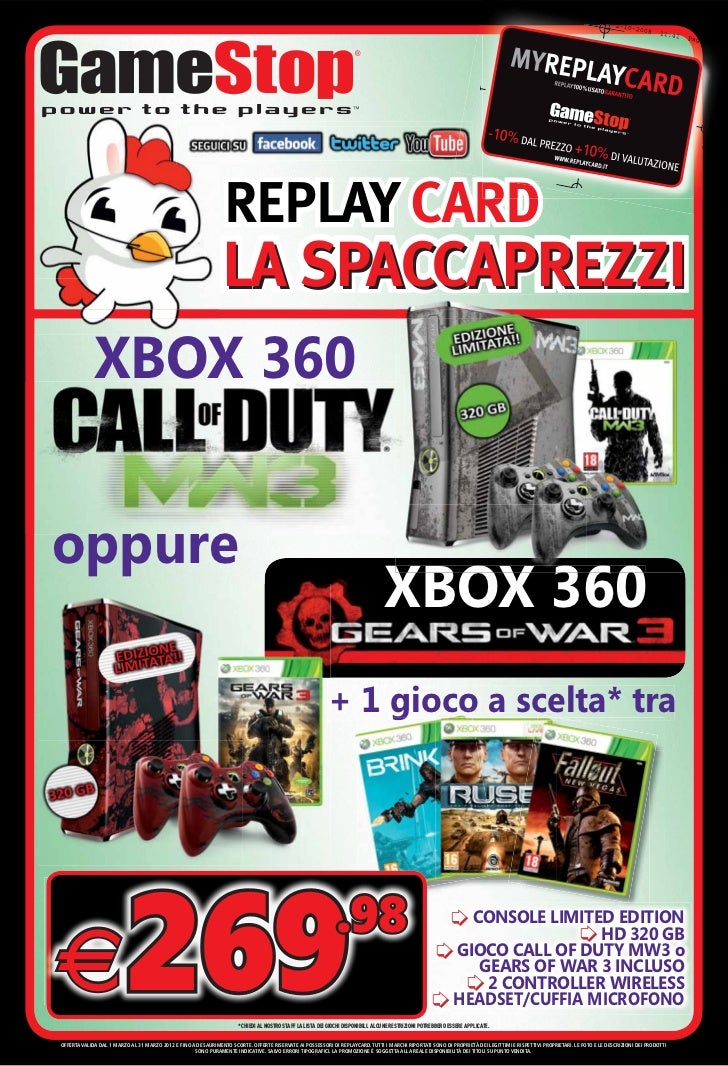 REPLAY CARD                                                                LA SPACCAPREZZI             XBOX 360oppure     ...