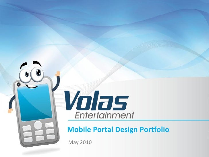 Mobile Portal Design Portfolio May 2010