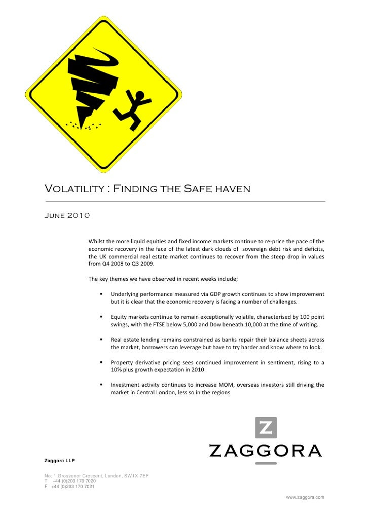 Volatility : Finding the Safe haven  J...
