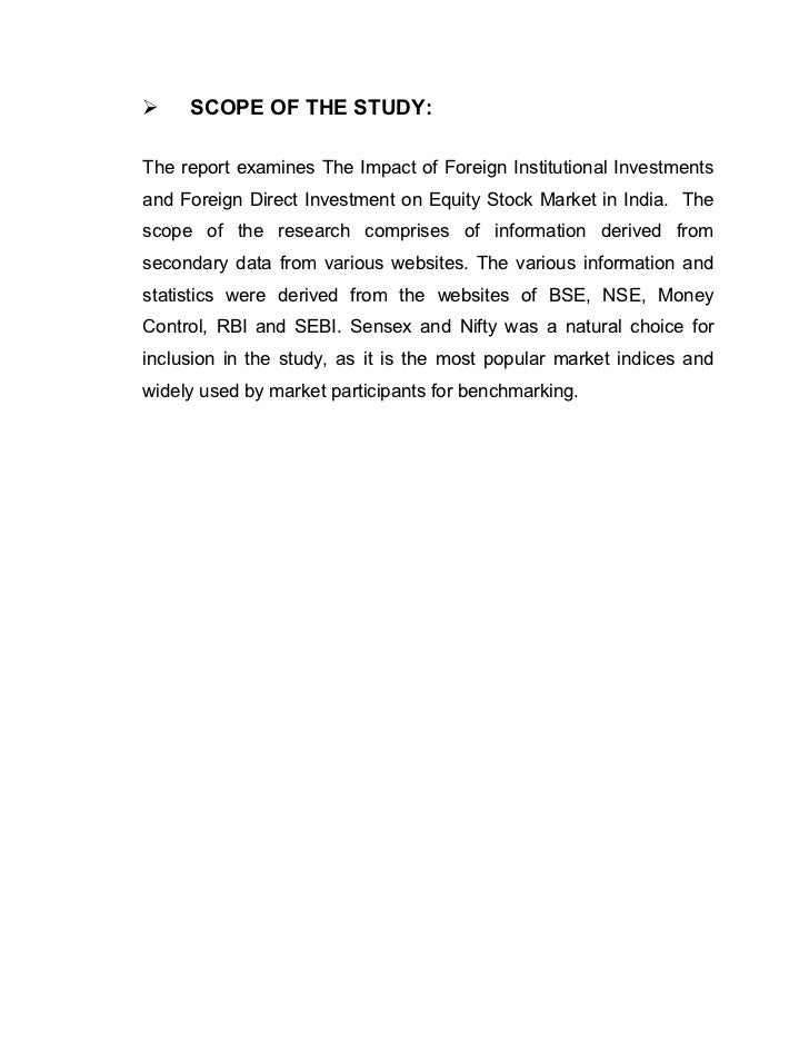 role of institutional investors in indian To harmonize the various available routes for foreign portfolio investment in  the indian securities market  the foreign institutional investors 1.