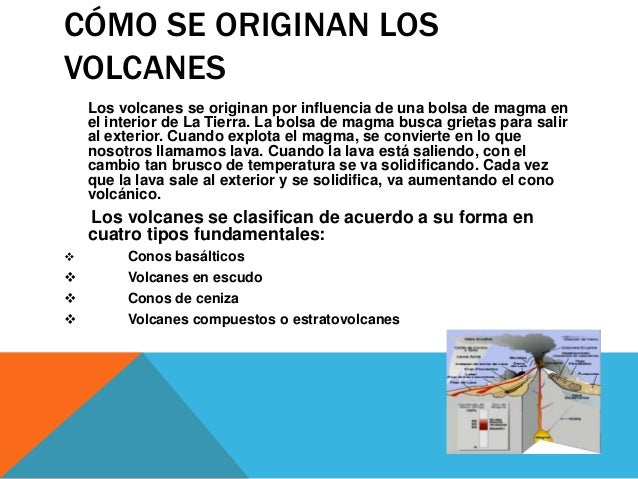 Tipos de volcanes for Como se cocinan los percebes