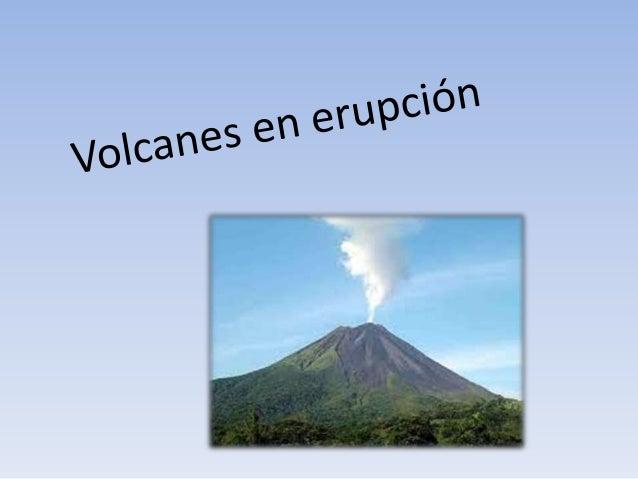 ¿Qué es un volcán? • Se denomina volcán a cualquier punto de la superficie terrestre por el que salen materiales incandesc...