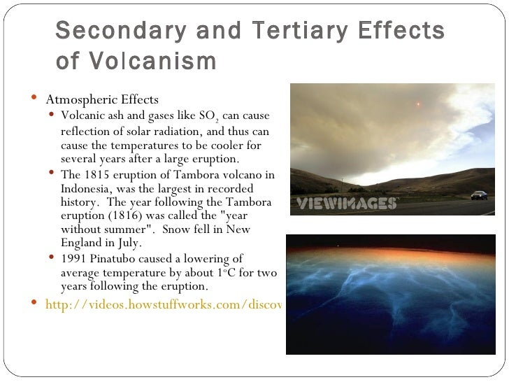 primary and secondary hazards of volcanic eruptions Volcanic hazards/case studies adapted to html based on notes of stephen a nelson primary effects of volcanism violent eruptions and pyroclastic activity.