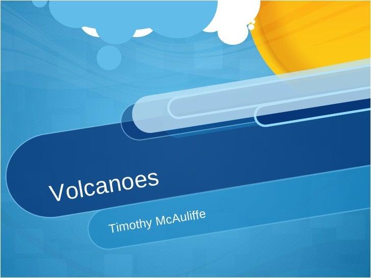 Volcanoes Timothy McAuliffe