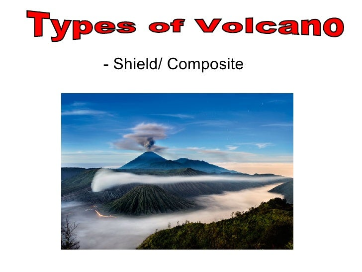 - Shield/ Composite Types of Volcano