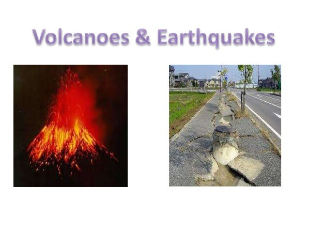 relationship between earth quake and volcano