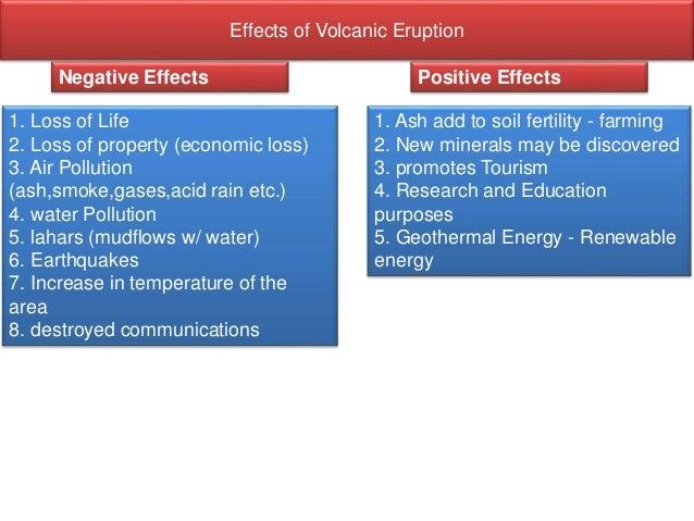 positive impacts of volcanic activity Impact of landslides and innovative landslide-mitigation  much has been written on the impacts of landslides on the total  seismic activity, and volcanic.