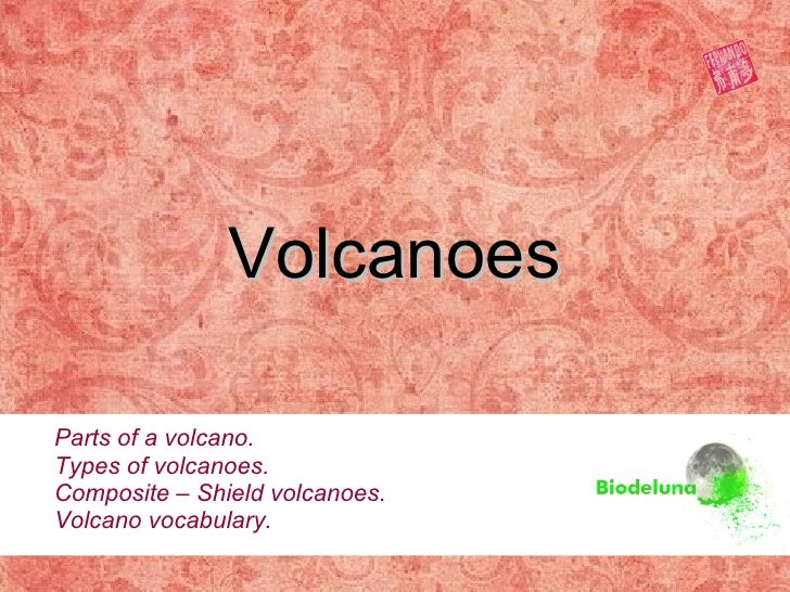 Volcanoes Parts of a volcano. Types of volcanoes. Composite – Shield volcanoes. Volcano vocabulary.
