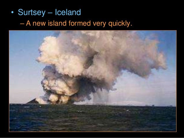 • Why do volcanoes erupt? • When rock from the mantle melts, it moves to the surface through the crust, and releases pent-...