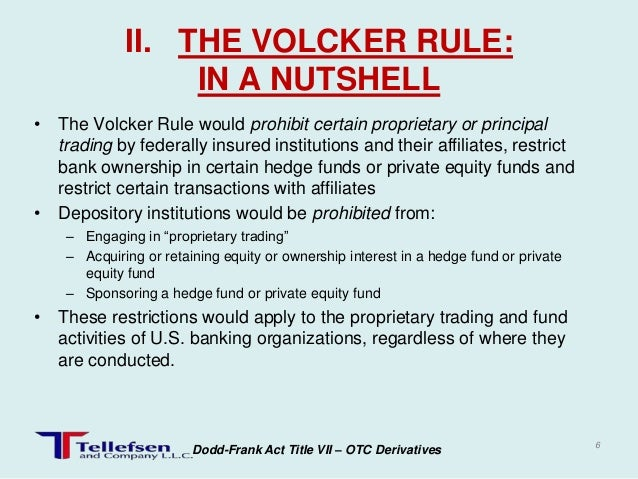 a definition of the volcker rule and the explanation of its inefficiency