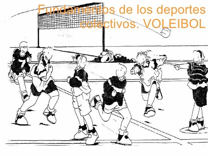 Fundamentos de los deportes colectivos. VOLEIBOL