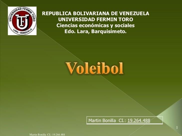 REPUBLICA BOLIVARIANA DE VENEZUELA               UNIVERSIDAD FERMIN TORO              Ciencias económicas y sociales      ...