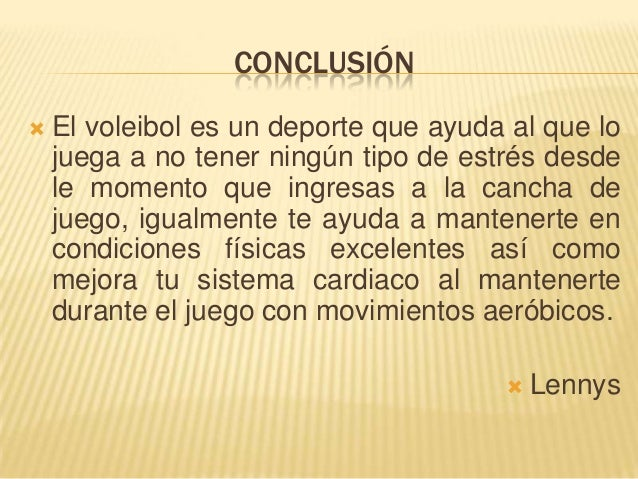 Voleibol for Conclusion de un vivero
