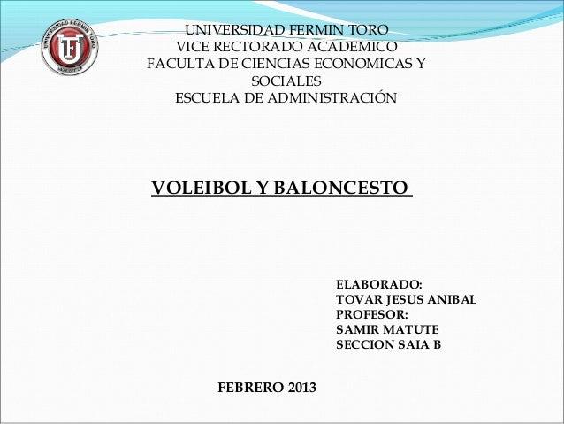 UNIVERSIDAD FERMIN TORO   VICE RECTORADO ACADEMICOFACULTA DE CIENCIAS ECONOMICAS Y            SOCIALES   ESCUELA DE ADMINI...