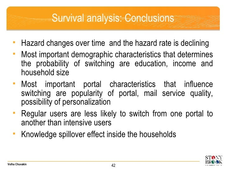 <ul><ul><li>Hazard changes over time  and the hazard rate is declining </li></ul></ul><ul><ul><li>Most important demograph...