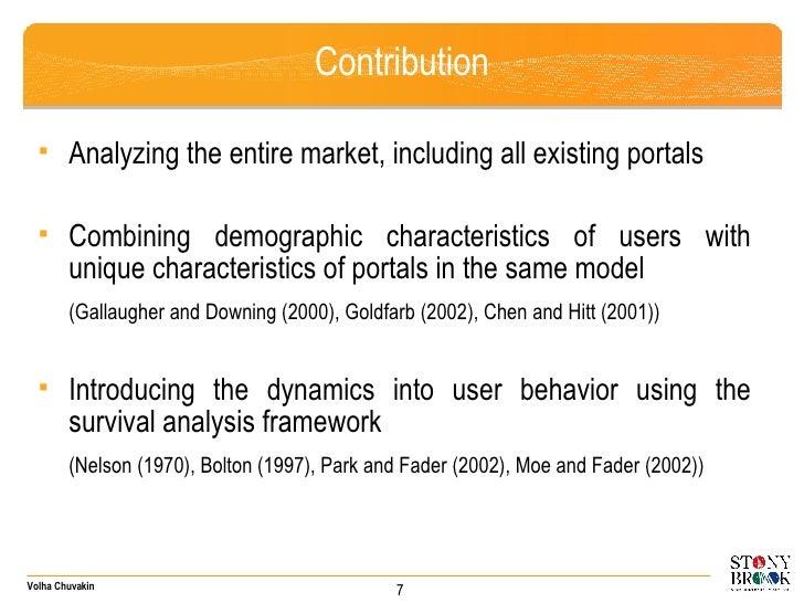 Contribution <ul><ul><li>Analyzing the entire market, including all existing portals  </li></ul></ul><ul><ul><li>Combining...