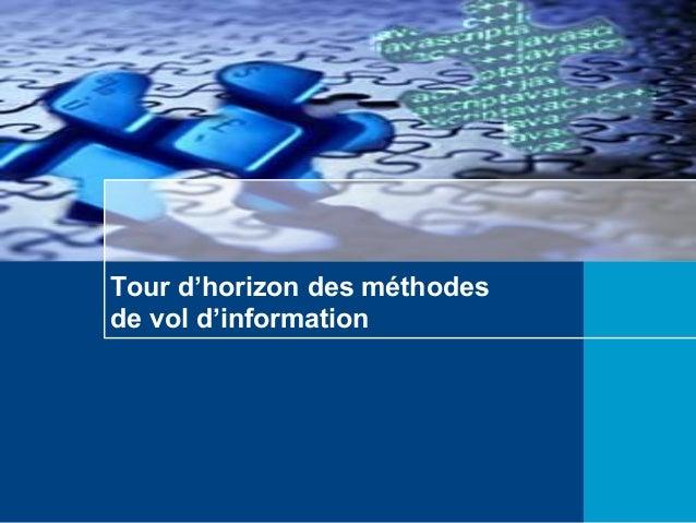 Tour d'horizon des méthodes de vol d'information