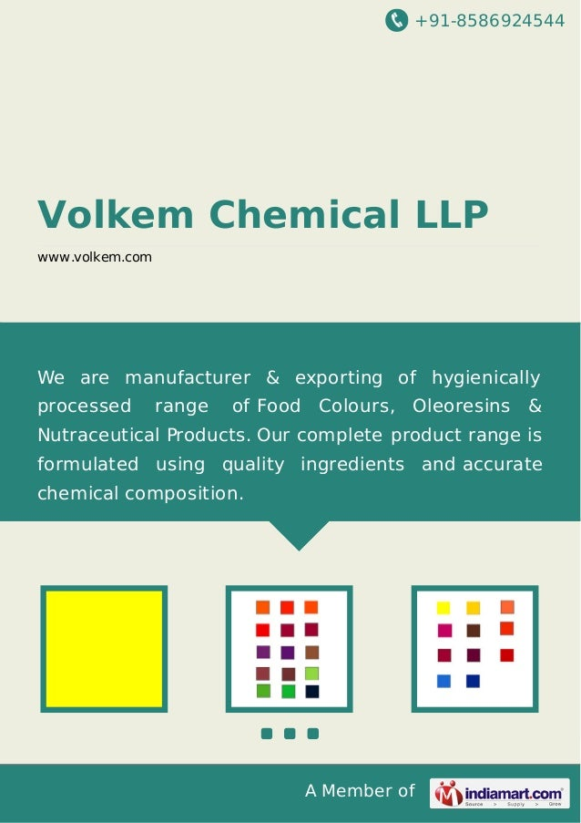 +91-8586924544 A Member of Volkem Chemical LLP www.volkem.com We are manufacturer & exporting of hygienically processed ra...