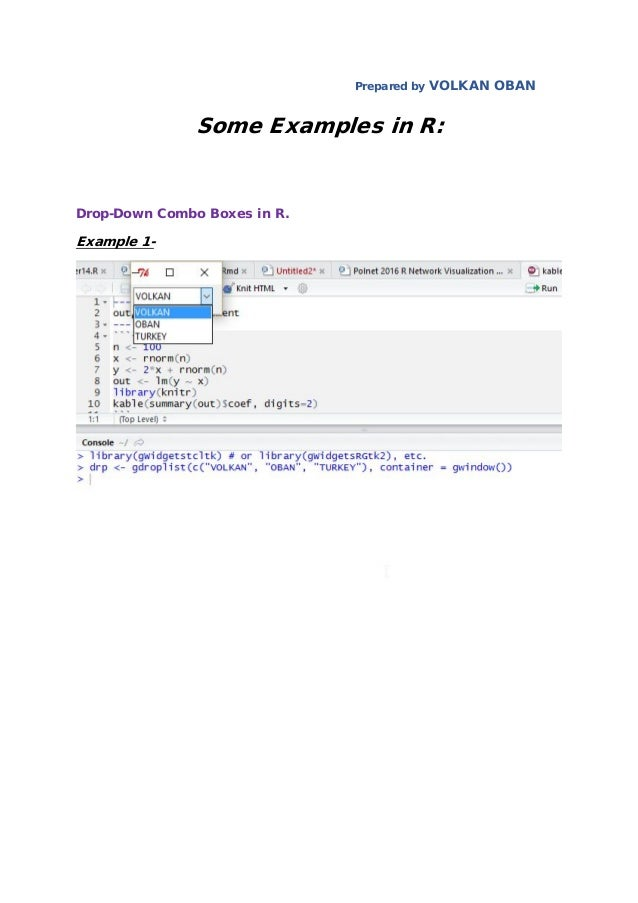 Some Examples in R