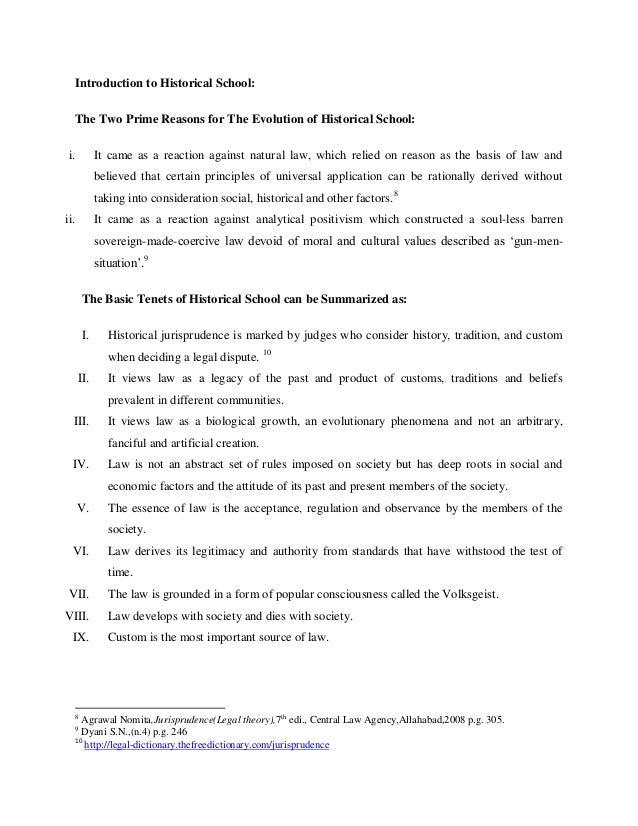 historical school of jurisprudence definition