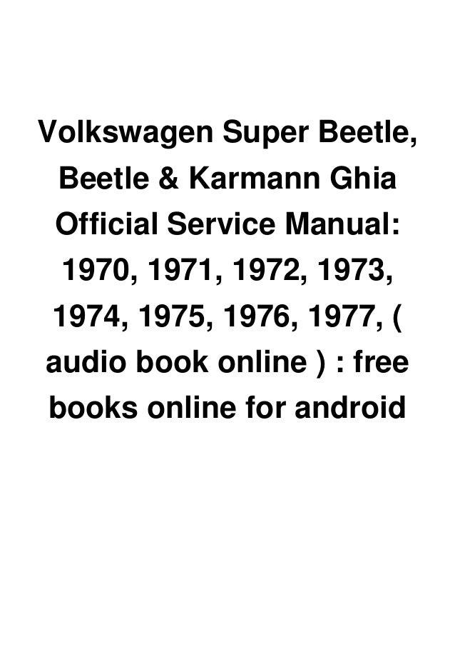 Karmann Ghia 1974 Repair Service Manual Pdf / Repair