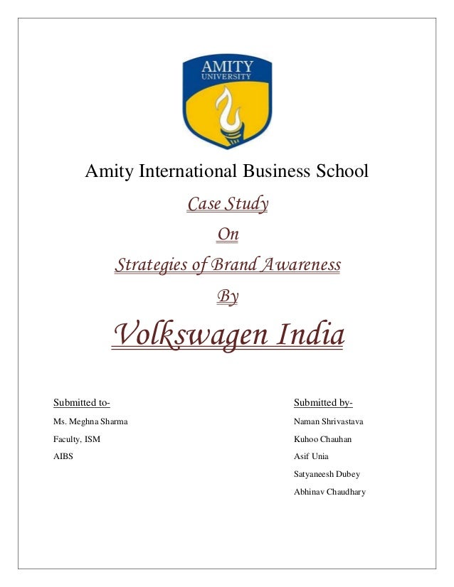 Amity International Business School                          Case Study                              On                Str...