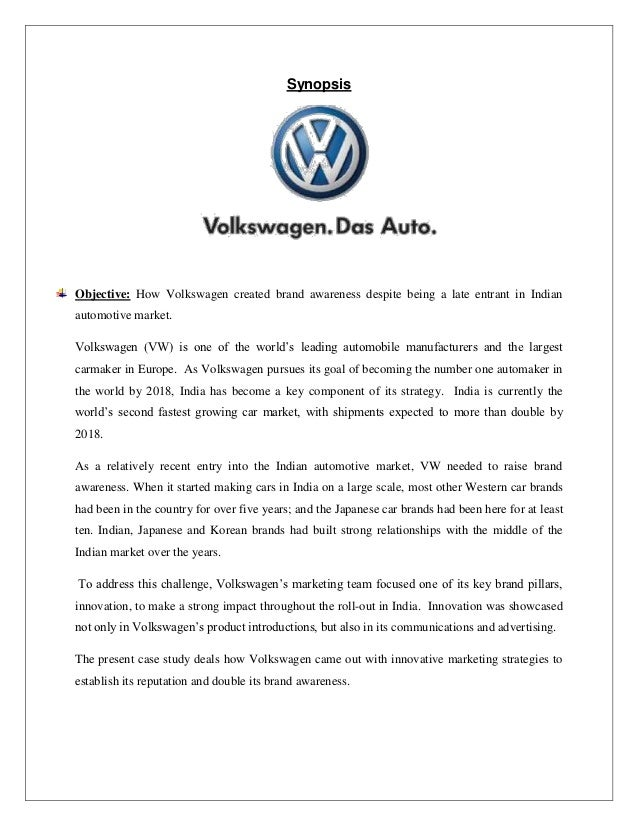 Volkswagen brand awareness
