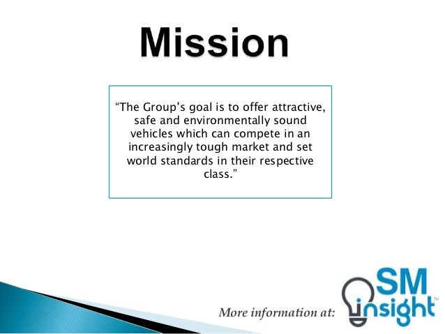 Volkswagen mission statement for Ford motor company mission statement