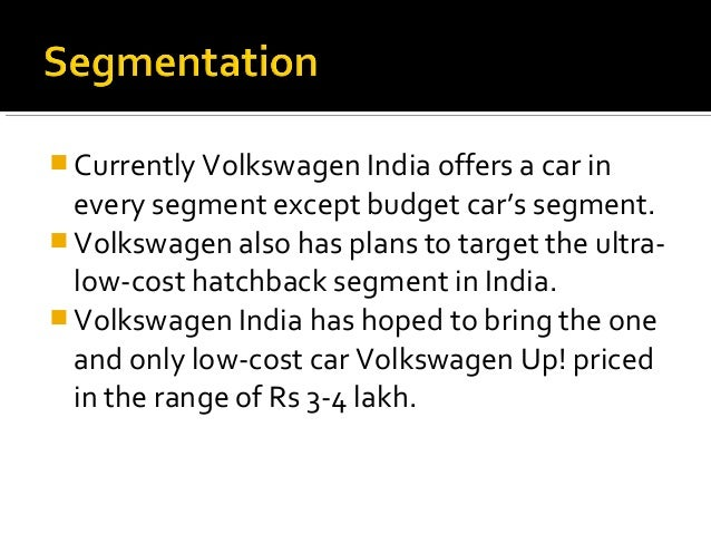 Low Cost Cars In India >> Volkswagen STDP India