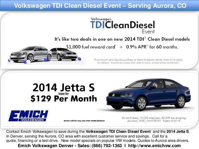 Vw Clean Diesel >> Volkswagen Tdi Clean Diesel Event L Serving Aurora Colorado Drivers