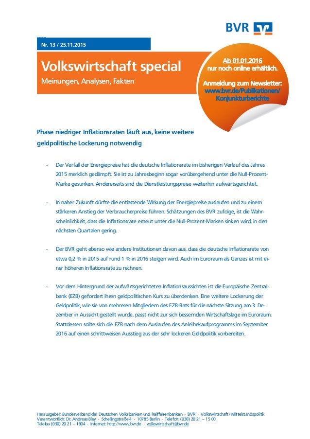 ggg Nr. 13 / 25.11.2015 Volkswirtschaft special Meinungen, Analysen, FaktenMeinungen, Analysen, Fakten Herausgeber: Bundes...