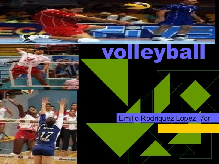 volleyball Emilio Rodriguez Lopez  7cr