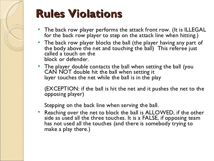 volleyball rules Volleyball matches generally aren't played for a specific time, they are played in 'sets' fivb volleyball rules are that a team needs to win 3 'sets' to win a match so a team can win 3 sets to 0, 3-1 or 3-2 so it can be hard to predict how long a match might take as it may consist of.